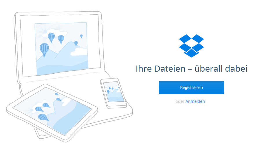 Dropbox und Call to Action